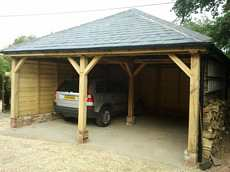 Oak barn, carport, roofing / image 3